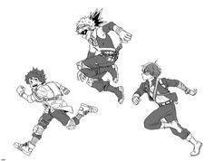Characters: Midoriya Izuku, Katsuki Bakugou, Todoroki Shouto.