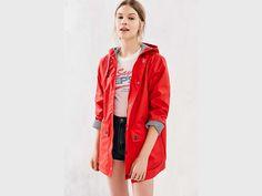 Cute Women's Raincoats with Hoods - UO Red Raincoat