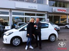 Meris, su consiglio dell'amico Massimo nostro cliente storico, sceglie la nuova #Toyota #Yaris 1.3. Complimenti e Benvenuta in Toyota !!