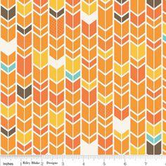 Lori Whitlock - Fun & Games - Chevron in Orange quilting weight