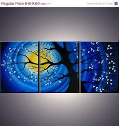 4th of july sale 54 x 24 Modern Abstract Cherry by ModernArtbyAda, $149.25