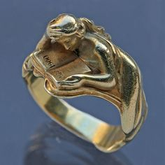 LOUIS ZORRA Art Nouveau Ring Celebrating the Paris 1900 Exhibition | Gold