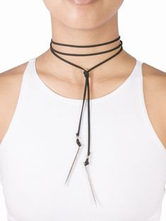 Spiked Tie up Choker – Gold Soul