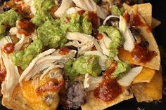Recipes for Using Up Leftover Chicken : Chicken, Guacamole, and Bean Nachos - CHOW