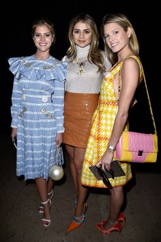 Helena Bordon and Lala Rudge Photos Photos - (L-R) Lala Rudge, guest and Helena Bordon attend the Miu Miu show as part of the Paris Fashion Week Womenswear Spring/Summer 2016 on October 7, 2015 in Paris, France. - Miu Miu : Arrivals - Paris Fashion Week Womenswear Spring/Summer 2016