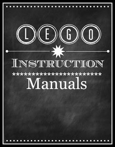 Printable Lego Instruction Manual Organizer