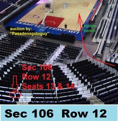 LAC vs the Houston RocketsTWO TICKETS for Staples Center on Wednesday, March 1, 2017 (7:30 pm). Section 106 (visitors side of arena) Row 12 Seats 13 &... #seats #ticketsaisle #season #rockets #clippers