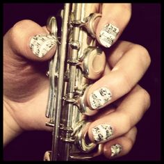 Sheet Music Nail Wraps by Jamberry Nails