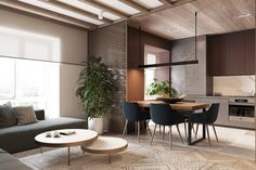 Heywood is a bright, modern and elegant apartment for a young family from Studio Espace. The biggest challenge was the separation of the functional zones.