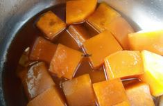 Zapallo o calabaza en almíbar con bicarbonato ~ Pasteles de colores Chutney, Cilantro, Preserves, Sweet Potato, Mango, Potatoes, Fruit, Vegetables, Sweet