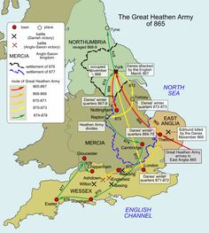 The Anglo-Saxons ruled England for 600 years, The Vikings only manged to stay on shore for 30 years at a time before the Saxons kicked them out. Guess they weren't as tough as people tend to believe. Uk History, European History, British History, History Facts, World History, Ancient History, Strange History, Tudor History, African History