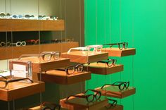 hanging platforms for #eyewear display