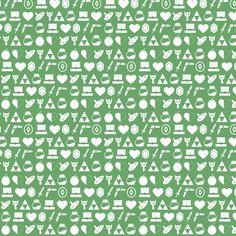 Zelda Green fabric by _craftfox_ on Spoonflower - custom fabric