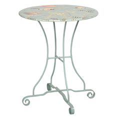 *Under-the-Sea Bistro Table - sea-themed painted top   BelleEscape.com