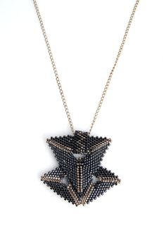 Geometrical Peyote Necklace by PelinAksesuar on Etsy, $49.90