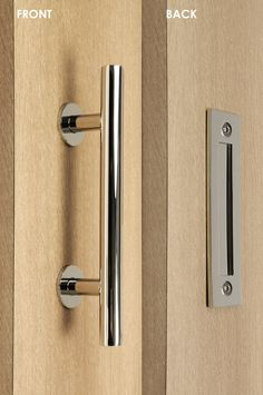 Barn Door Pull and Flush Tubular Door Handle Set (Polished Chrome ...