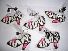 Zebra Print High Heel Shoe Sugar Cookies
