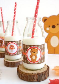 Woodland birthday party ideas with food, desserts, printables and DIY decorations | BirdsParty.com @birdsparty