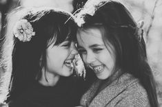 reminds me of Nora and Renn even tho their hair is too dark in the picture. @Kendra Peterson the girl on the right reminds me of a young Francesca Battistelli!