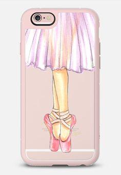 Ballerina En Pointe Ballet Dancer Illustration by Joanna Baker in New Standard | @casetify