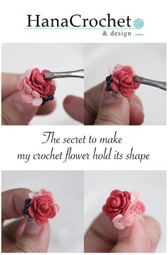 DIY – crochet rose bridesmaid gift jewelry Diy Crochet Rose, Crochet Puff Flower, Crochet Video, Crochet Flower Patterns, Love Crochet, Easy Crochet, Crochet Flowers, Knit Crochet, Crochet Butterfly