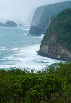Waipio Valley, Hawaii, Pololu Valley Lookout- hiked down to the black sand beach