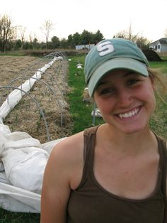 """This is my organic farmer, Megan Deleeuw at Hand Sown Farm in Manchester, MI.  She is amazing!"""