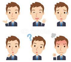 ビジネスマン 男性 表情セット