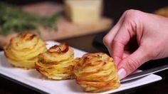 Die Köchin stapelt Kartoffeln in die Muffinform. Als sie aus dem Ofen kommen sind ihre Gäste baff.