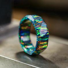 Wedding Men, Wedding Bands, Black Opal Ring, Black Fire, Opal Jewelry, Jewelry King, Men's Jewelry Rings, Jewlery, Fantasy Jewelry