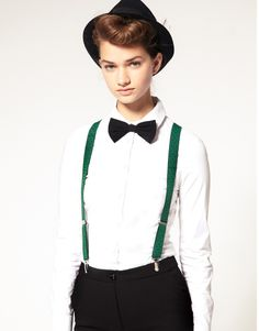 Like the pop of green suspenders www.daydreamcollectionxoxo.blogspot.com