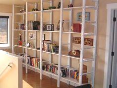 Ladders to create bookshelves!