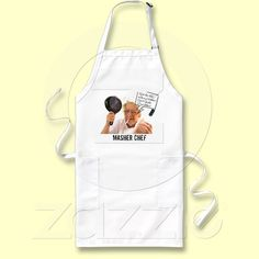 Purchase the perfect customizable Chef apron right here on Zazzle! Find the right fit & get ready for your next cookout! Chef Apron, Laughter, Gifts, Presents, Favors, Gift