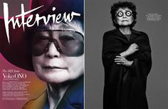 Manicurist Gina Edwards with Yoko Ono for Interview