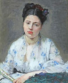 Berthe Morisot, Young Woman, 1871. See The Virtual Artist gallery: www.theartistobjective.com/gallery/index