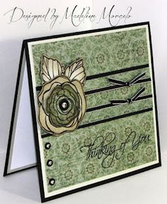 Sympathy Card with Avonlea and Love Blooms stamp set.