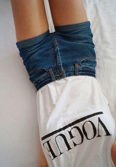 a3bb4f17bea84 shorts vogue tank top white t-shirt shirt denim dark black blue print white  t-shirt summer outfits high waisted shorts pants top jeans denim shorts  black ...