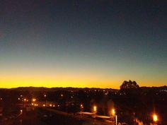 Sunrise in Las Vegas, Nevada 2/7/2016 (sunrise+sunset winter desert sky trees ). Photo by 10C