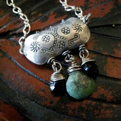 Thai Silver Opal Necklace with Sterling Silver by coldfeetjewelry, $85.00