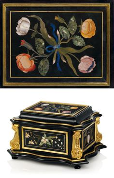 Italian Furniture, Antique Furniture, Chinoiserie, Blue Bells, Casket, 17th Century, Lapis Lazuli, Peonies, Art Decor