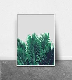 Tropical Wall Art, Palm Leaf Print, Printable Wall Art, Tropical Poster, Botanical Print, Modern Photography Print, Boho Wall Decor, Mint