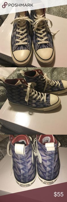 9973417428a2 Converse MISSONI limited edt high tops. Converse MISSONI limited edition  hightop sneakers. Worn once in excellent condition! Mens8 women s10.