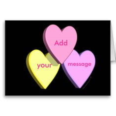 Personalized Heart Candy Card (black)