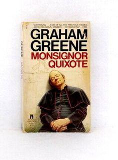 Monsignor Quixote by Graham Greene vintage paperback 1st print Washington Square #WashingtonSquarePress Graham Greene, Washington Square, Cover, Books, Vintage, Libros, Book, Vintage Comics, Book Illustrations