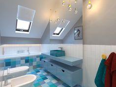 łazienka dzieci - mozaika, tonacja blue