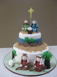 cake decorating ideas | Cordelia's Cake Central: Nativity Cake