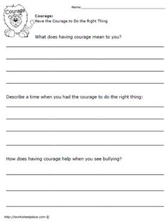 Worksheets Good Character Worksheets 1000 images about character pillar on pinterest worksheets have the courage to do right thing