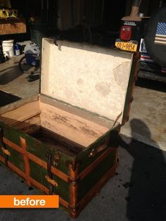 Before & After: An Antique Trunk Picks Up Steam