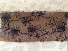 Браслет с кружевом бисером и стразами. МК от Виктории Высовень Burlap, Reusable Tote Bags, Creative, Hessian Fabric, Jute, Canvas