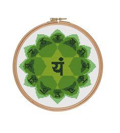 Heart chakra Cross Stitch pattern by StitcheryStitch